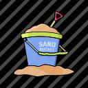 summer, play, kids, make, bucket, sand, beach icon