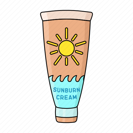 beach, cream, smear, summer, sun burn, sun lotion, sunshine icon