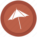 beach umbrella, shade, summer, umbrella icon