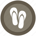beach, holiday, slippers, summer, travel icon