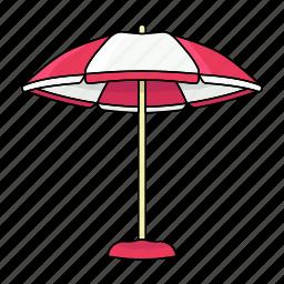cool, hot, shadow, summer, sun cover, umbrella icon