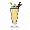 cold, cool, cream, ice cream, set, summer, tasty icon