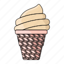 cold, fresh, ice, ice cream, kids, set, summer icon