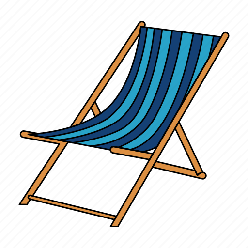 beach chair, relax, rest, seat sit, set, summer, sun icon