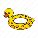 childrean, duck, kids, sea, set, summer, swim icon