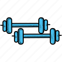 barbell, dumbbells, fitness, gym, muscles, sports, weight icon