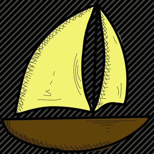 boat, sail, sea, ship, yacht icon