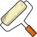 brush, paint, roller icon