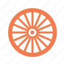 bicycle, bike, bike wheel, rim, spokes, tire, wheel icon