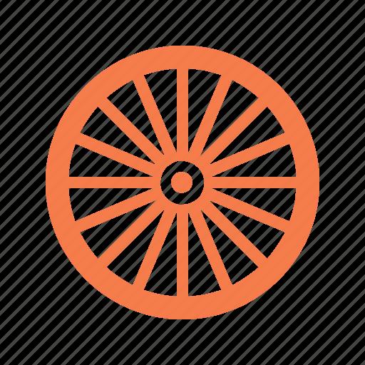 bicycle, bike, bike wheel, rim, spokes, tire, wheel icon