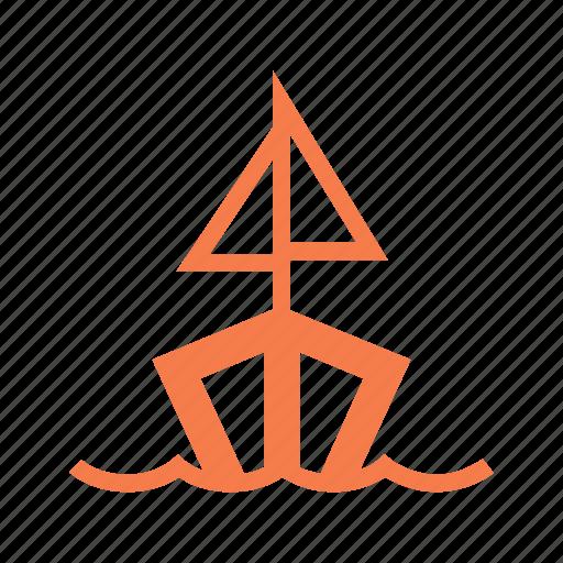 boat, float, lake, row boat, sail, sail boat, sailing icon