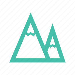 mnts, mountain, mts, outdoor, peaks, rock, snow icon