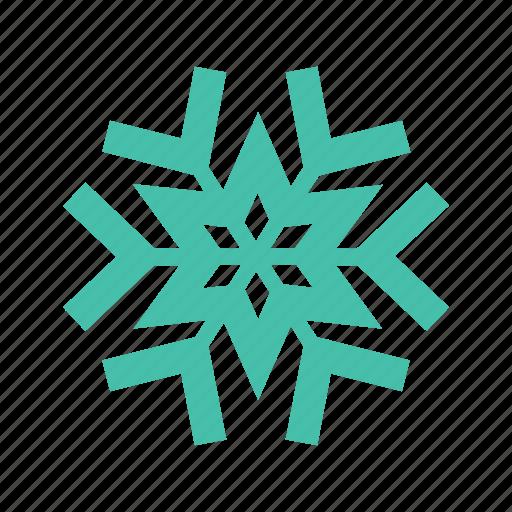 frozen, snow, snowflake, snowing, unique, water, winter icon