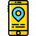 holiday, location, phone, summer, vacation icon