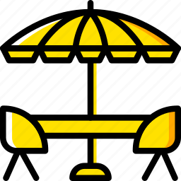 holiday, summer, terrace, vacation icon