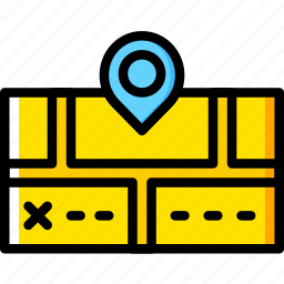 holiday, location, map, summer, vacation icon