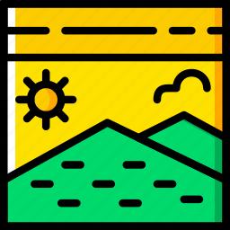 holiday, postcard, summer, vacation icon