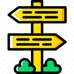 holiday, sign, street, summer, vacation icon