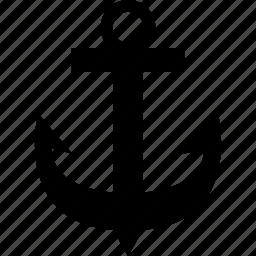 anchor, boat, marine, nautical, sailing, sea, ship icon