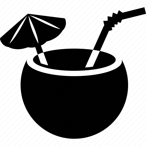Alcohol Cocktail Coconut Drink Icon