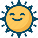 happy, summer, sun, sunny icon