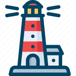 light, lighthouse, sea, ship icon