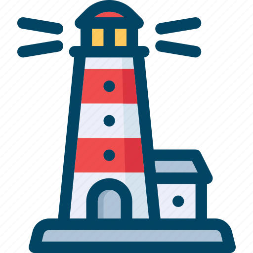 light, lighthouse, sea, ship icon