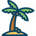 beach, coconut, nature, palm, tree icon