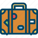baggage, case, suitcase, travel, voyage icon