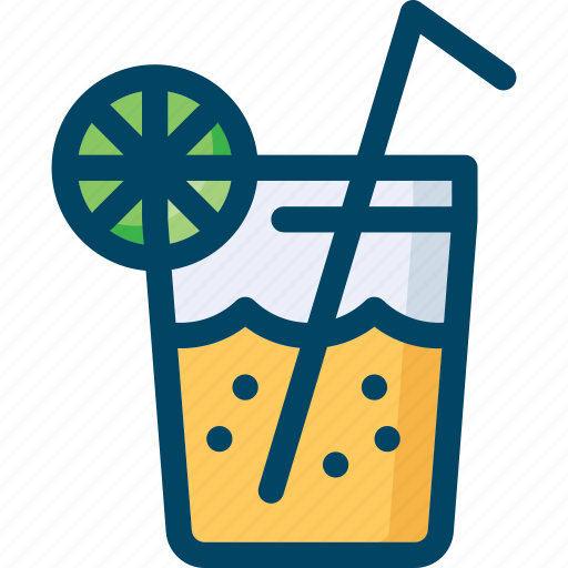 cold, drink, glass, lime, soda, summer icon