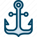 anchor, boat, ship icon