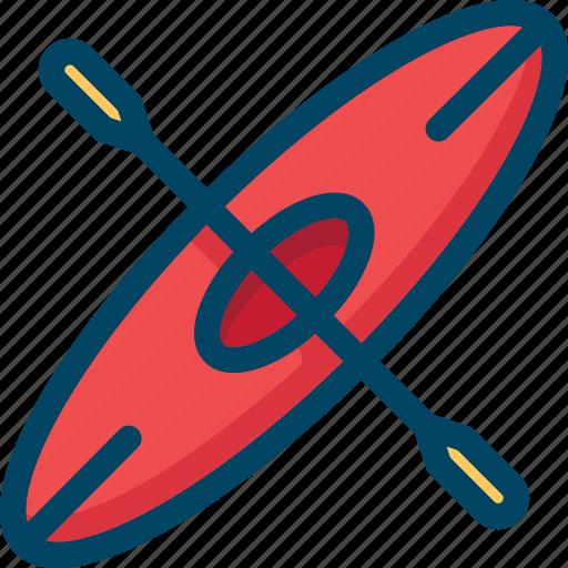 boat, canoe, kayak, outdoor icon