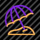 beach, duotone, sand, summer, summertime, umbrella icon