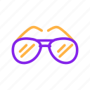 accesories, duotone, glasses, summer, summertime icon