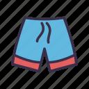 beach, male, man, pants, short, summer, swim icon