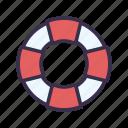 baywatch, beach, lifebuoy, summer icon