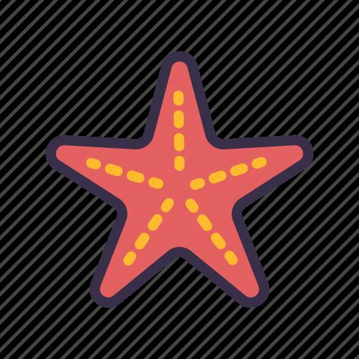 animal, beach, sea, starfish, summer icon