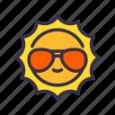 beach, summer, sun, warm icon