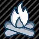 bonfire, burning wood, fire, fireplace, wood fire icon