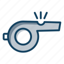 alarm, flute, instrument, signal, whistle icon