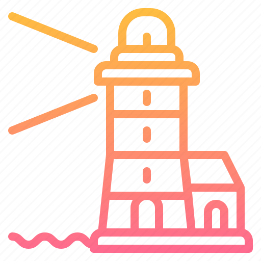 buildings, lighthouse, tower icon