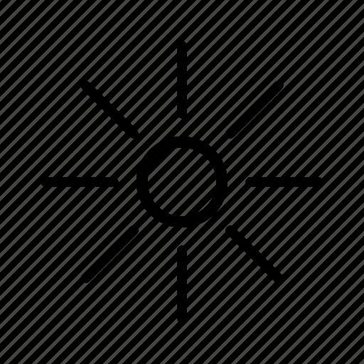 heat, hot, light, summer, sun, sunny, weather icon