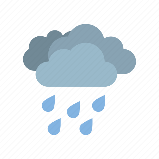 cloudy, full, heavy, rain, weather icon