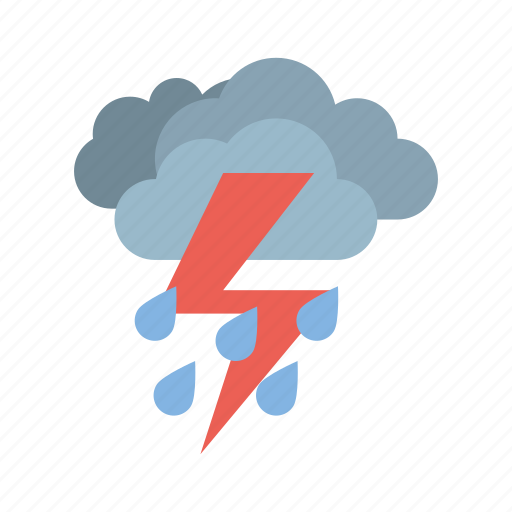 cloudy, full, heavy, rain, storm, weather icon