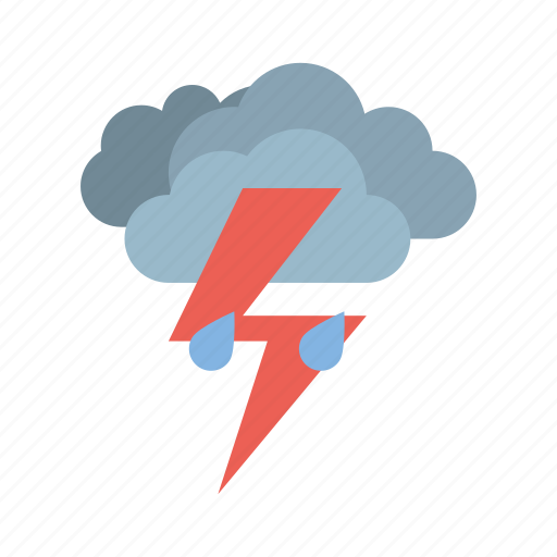 cloudy, full, light, rain, storm, weather icon