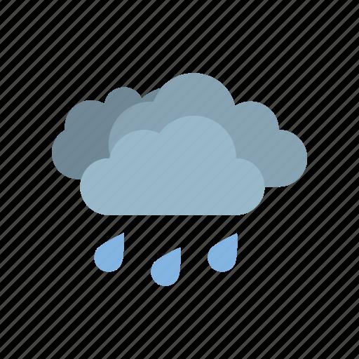 cloudy, full, medium, rain, weather icon