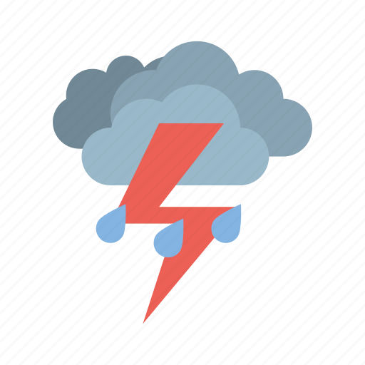 cloudy, full, medium, rain, storm, weather icon