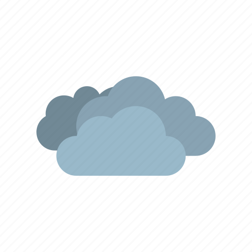 cloudy, full, weather icon