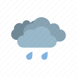 cloudy, full, light, rain, weather icon