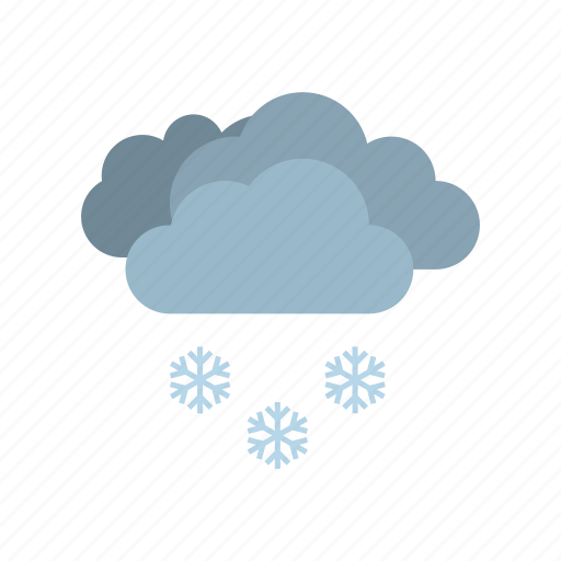 cloudy, full, snow, weather icon
